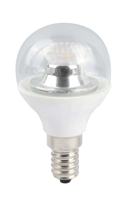 BELL 05149 4W LED 45mm Dimmable Round Ball Clear SES 4000K